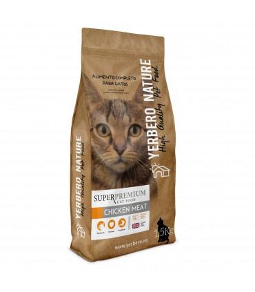 Yerbero NATURE CHICKEN MEAT pienso superpremium para gatos 1.5kg