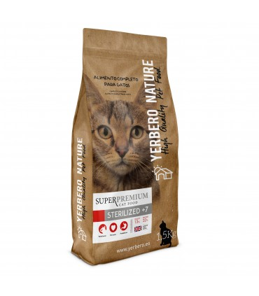 Yerbero NATURE STERILIZED+7 pienso superpremium para gatos 1.5 kg