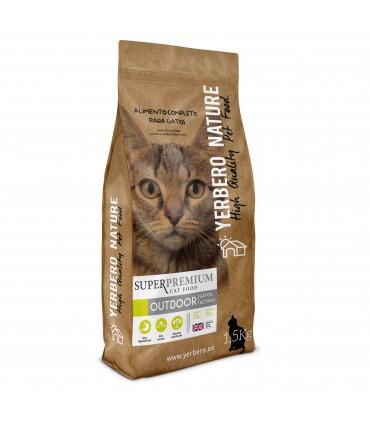 Yerbero NATURE OUTDOOR pienso de calidad superpremium para gatos activos 1,5kg