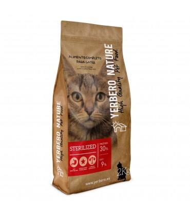Yerbero NATURE STERILIZED pienso premium para gatos 2kg