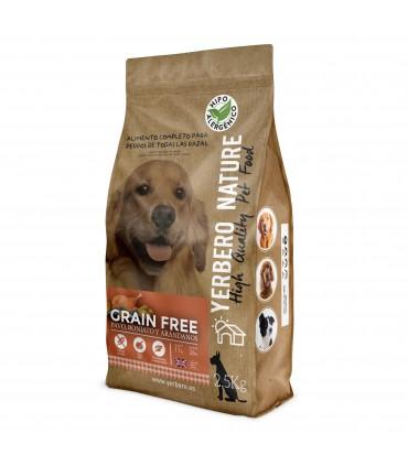 Yerbero NATURE GRAIN FREE de PAVO comida para perros SIN cereales 2.5 kg