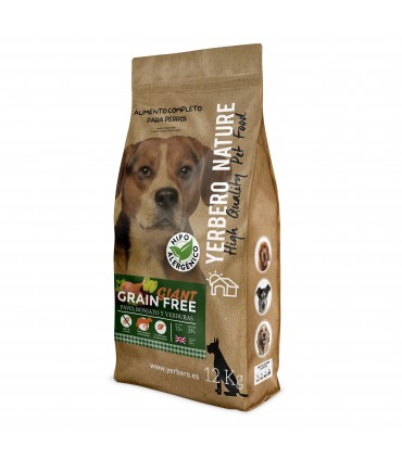 Yerbero NATURE GRAIN FREE  GIANT comida para perros grandes SIN cereales 12 kg